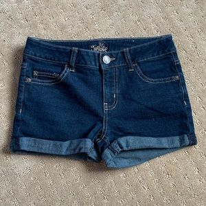 Justice Denim Dark Wash Jean Shorts